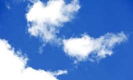 Blue sky with clouds. Royalty Free Stock Photo