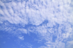 Blue sky with clouds beautiful in nature Stock Images