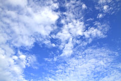 Blue sky with clouds beautiful in nature Stock Photography