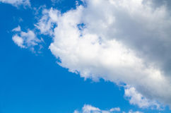 Blue sky and clouds. Beautiful blue spring sky with white clouds Royalty Free Stock Photo