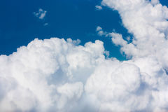 Blue sky and clouds. Blue sky and big white clouds stock images