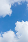 Blue sky with clouds. Blue sky with big white clouds royalty free stock image