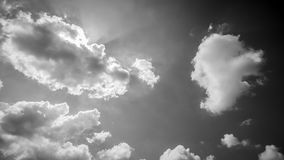 Blue Sky And Clouds with black and white theme Stock Photography