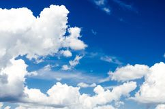 Blue sky with clouds. Blue sky with clouds flying in air Royalty Free Stock Image