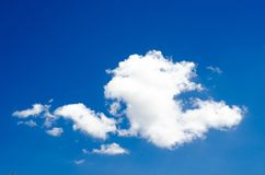 Blue sky with clouds. Blue sky with clouds flying in air Stock Photo