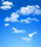 Blue sky with clouds. Bright blue sky with clouds Royalty Free Stock Images
