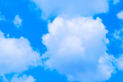 Blue Sky clouds. Bright sky and white cloud Stock Image