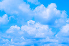 Blue Sky clouds. Bright sky and white cloud Stock Photo
