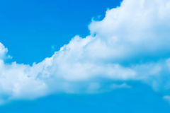 Blue Sky clouds. Bright sky and white cloud Royalty Free Stock Photo