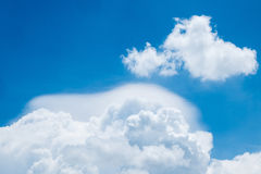 Blue sky with clouds Stock Images