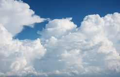 Blue sky clouds. Royalty Free Stock Photography