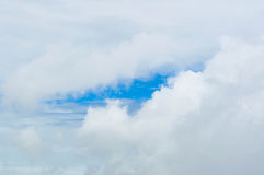Blue sky with clouds. Closeup Stock Photography