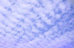 Blue sky with clouds closeup Royalty Free Stock Photos
