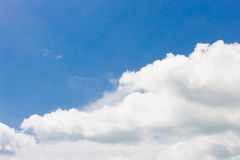 Blue sky with clouds closeup Stock Photos