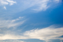 blue sky with clouds closeup Stock Photography