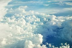 Blue sky with clouds closeup Stock Image