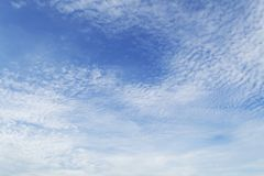 Blue sky with clouds closeup Stock Photos