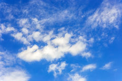 Blue sky with clouds closeup. Blue sky with clouds close-up Royalty Free Stock Photography