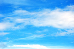 Blue sky with clouds closeup Royalty Free Stock Photos