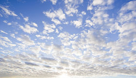 Blue sky with clouds closeup Royalty Free Stock Photo