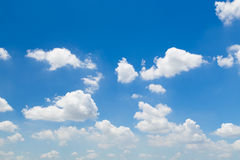 Blue sky with clouds. Sky cloud pure clean background weather ozone Stock Images