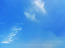 Blue Sky with clouds. With cloudscape Royalty Free Stock Image