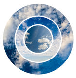 Blue Sky And Clouds Collage stock photos