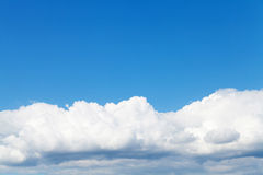 Blue sky and clouds with copy space Royalty Free Stock Photo