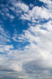 Blue sky with clouds. cumulonimbus. background, nature. Royalty Free Stock Photography