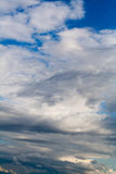 Blue sky with clouds. cumulonimbus. background, nature. Royalty Free Stock Photos