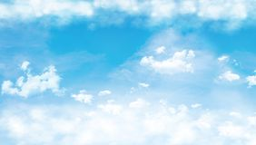 Blue sky with clouds. 3D Rendering Vector Illustration