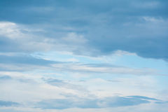 Blue sky with clouds. During the day Stock Photography