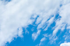 Blue sky with clouds. During the day Royalty Free Stock Photo