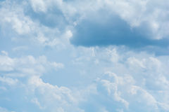 Blue sky with clouds. During the day Stock Images