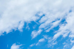 Blue sky with clouds. During the day Stock Photos