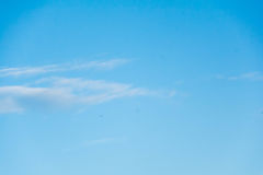 Blue sky with clouds. During the day Royalty Free Stock Photography