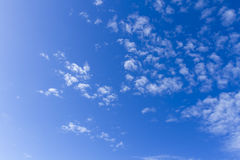 Blue sky. With clouds. Day. Sunny Royalty Free Stock Photo