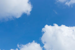 Blue sky with clouds. Deep blue sky with big white clouds royalty free stock image