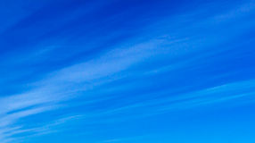Blue sky - Clouds. Fine weather, blue sky panorama with white clouds Royalty Free Stock Photography