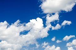 Blue sky with clouds. Blue sky with clouds flying in air Stock Photography