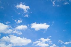 Blue sky and clouds in good weather days. Panorama shot of blue sky and clouds in good weather days royalty free stock image