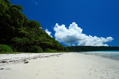 Blue sky and clouds in Havelock island. Andaman islands, India Stock Photo