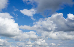 Blue sky with clouds. Stock Photography