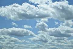 Blue sky with clouds in Illinois. This Illinois sky can be used for background or overlay Royalty Free Stock Photography