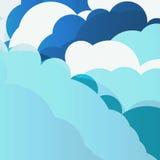 Blue sky clouds illustration Stock Image