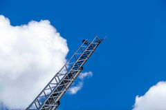 Blue sky with clouds and ladder Royalty Free Stock Image