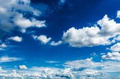 Blue sky with clouds landscape Royalty Free Stock Photos