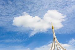 Blue sky with clouds. Like the white heart stock photo