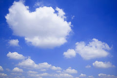 Blue sky with clouds many cubes Stock Image