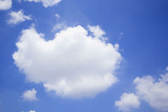 Blue sky with clouds many cubes Royalty Free Stock Photo